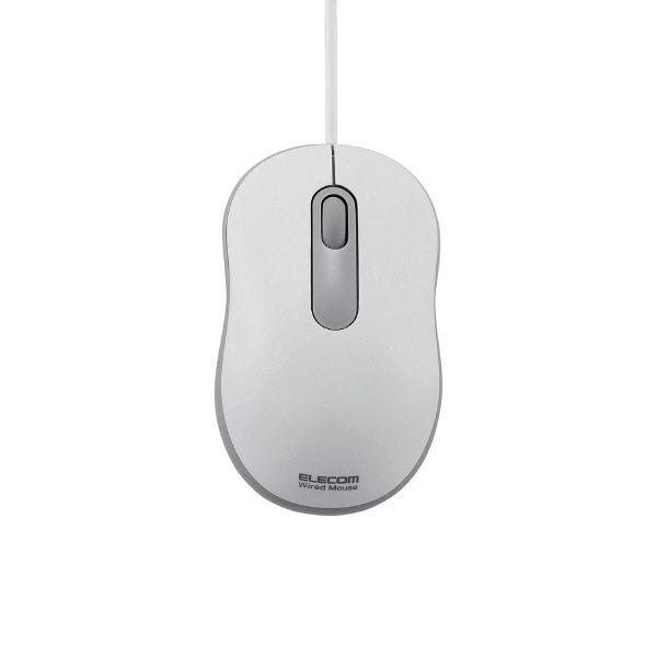 エレコム 有線マウス 光学式 Sサイズ ホワイト M-Y6URWH (直送品)