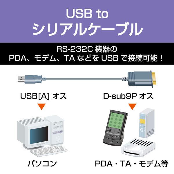 エレコム USBtoSerial変換ケーブル UC-SGT1 (直送品)