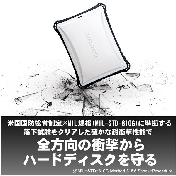 耐衝撃ZEROSHOCKポータブルHDD