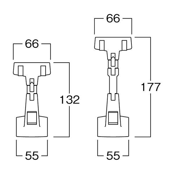 河淳 メガクランプSVC黒 10個セット FB789 (直送品)