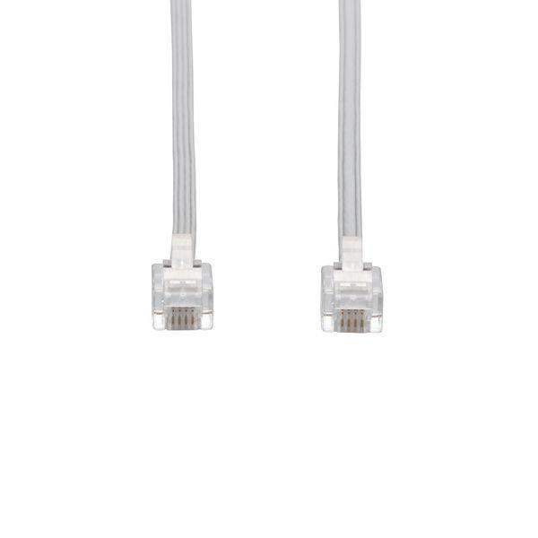 エレコム スリムモジュラケーブル(ホワイト)(4芯) MJ-1WH (直送品)
