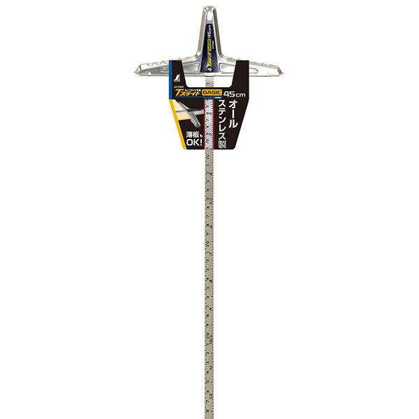 シンワ測定 丸ノコガイド定規 Tスライド ベーシック 45cm 併用目盛 73593 1セット(8個) (直送品)