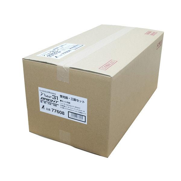 レーザーロボ Neo 31 BRIGHT 受光器・三脚セット 77608 シンワ測定 (直送品)