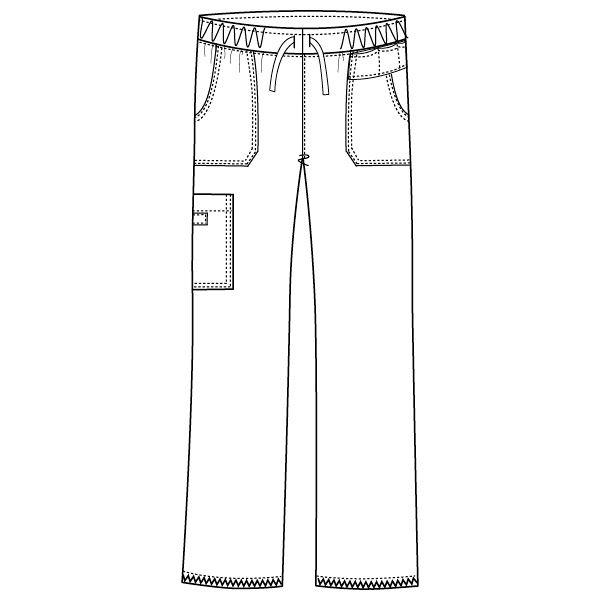 フォーク ディッキーズ 医療白衣 ストレートパンツ 5020SC レイガンネイビー SS 1枚 (直送品)