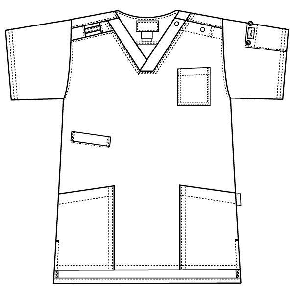 フォーク ディッキーズ 医療白衣 スクラブ 7045SC シャーマングリーン SS 1枚 (直送品)