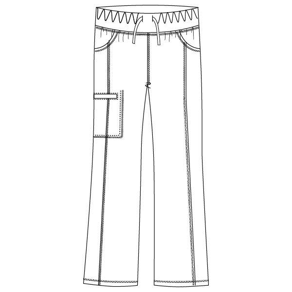 フォーク CHEROKEE(チェロキー) 医療白衣 パンツ CH351 ブルーウエーブ LL 1枚 (直送品)