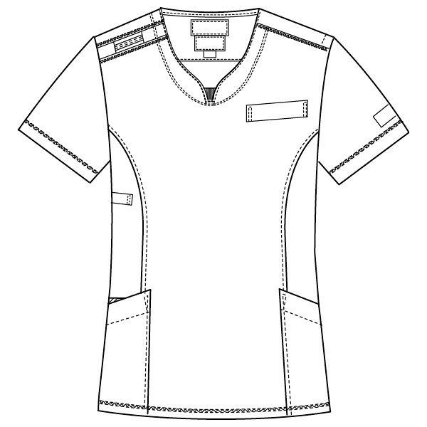 フォーク CHEROKEE(チェロキー) 医療白衣 スクラブ CH751 フュクシャ・ローズ EL 1枚 (直送品)