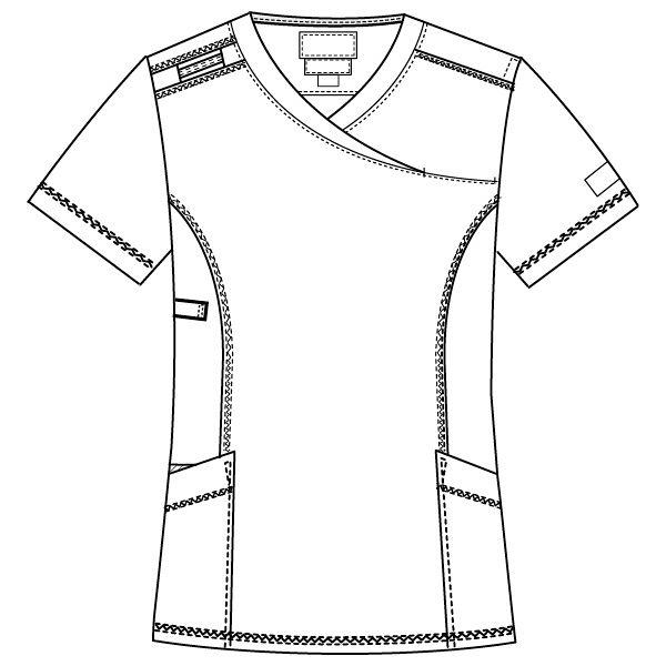 フォーク CHEROKEE(チェロキー) 医療白衣 スクラブ CH752 フュクシャ・ローズ M 1枚 (直送品)