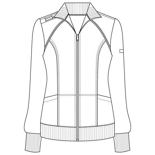 フォーク CHEROKEE(チェロキー) 医療白衣 ブルゾン CH950 ロイヤル L 1枚 (直送品)