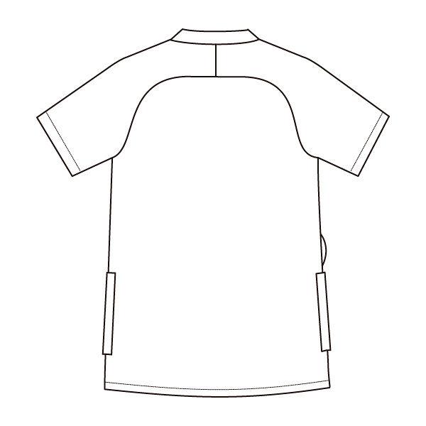 住商モンブラン メンズジャケット 医療白衣 半袖 チャコールグレイ/シルバーグレイ M 72-1270 (直送品)