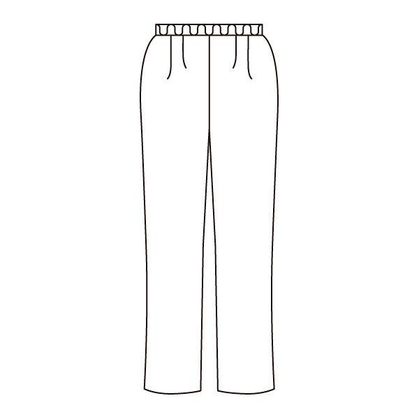 住商モンブラン 男女兼用パンツ スクラブパンツ 医療白衣 チャコールグレイ LL 72-1630 (直送品)