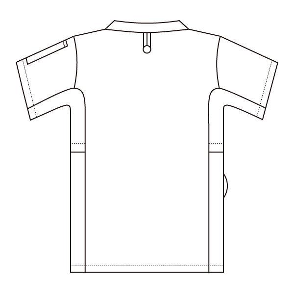 住商モンブラン スクラブ(男女兼用) ジャケット 医務衣 医療白衣 半袖 ピーコックグリーン M 72-634 (直送品)