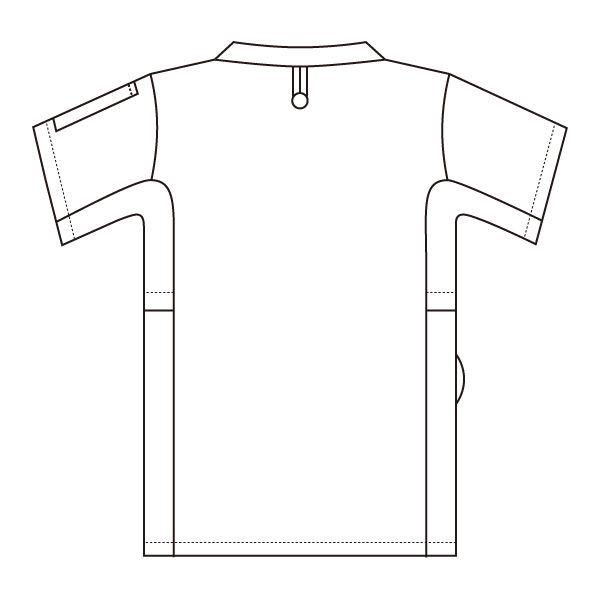 住商モンブラン スクラブ(男女兼用) ジャケット 医務衣 医療白衣 半袖 リーフグリーン L 72-638 (直送品)