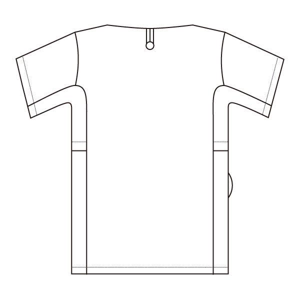 住商モンブラン 男女兼用ジャケット 医療白衣 半袖 ピーコックグリーン/チャコールグレイ L 72-724 (直送品)