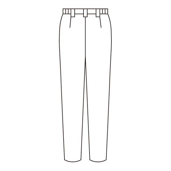 住商モンブラン レディスパンツ 医療白衣 ネイビー L 73-1189 (直送品)