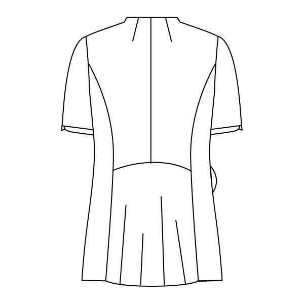 住商モンブラン ナースジャケット 医療白衣 レディス 半袖 白/ラベンダー L 73-2204 (直送品)