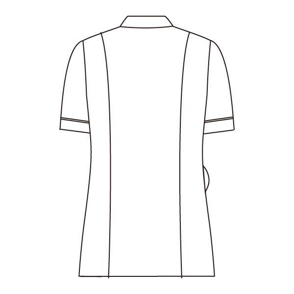 住商モンブラン ナースジャケット 医療白衣 レディス 半袖 白/ネイビー M 73-2218 (直送品)