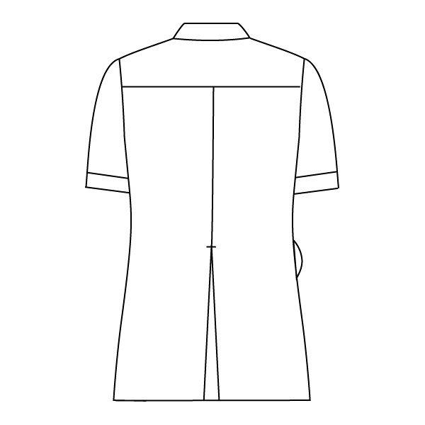 住商モンブラン ナースジャケット 医療白衣 レディス 半袖 白/ラベンダー LL 73-2224 (直送品)