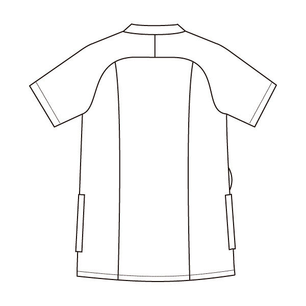 住商モンブラン レディスジャケット 医療白衣 半袖 コーラルレッド/ワイン M 73-2232 (直送品)