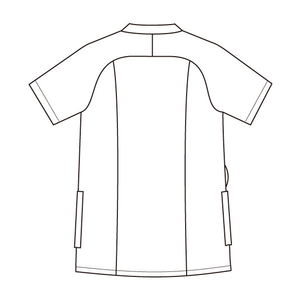 住商モンブラン レディスジャケット 医療白衣 半袖 ピーコックグリーン/チャコールグレイ M 73-2234 (直送品)