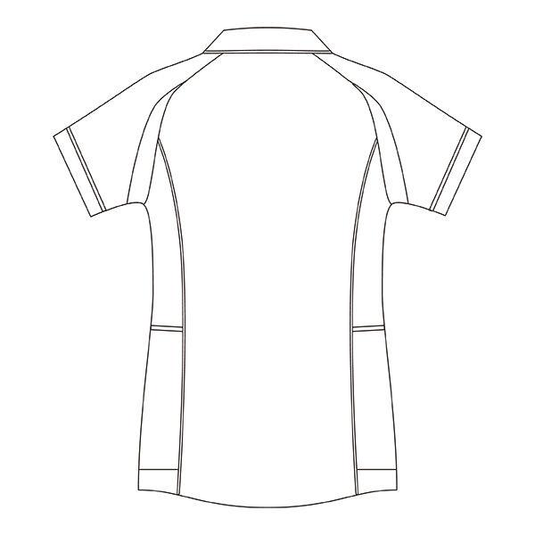 住商モンブラン レディスジャケット(半袖) 医療白衣 ホワイト×ネイビー L CHM052-0109 (直送品)