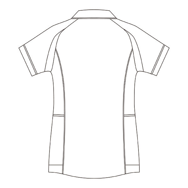 住商モンブラン レディスジャケット(半袖) 医療白衣 ホワイト×ネイビー LL CHM052-0109 (直送品)