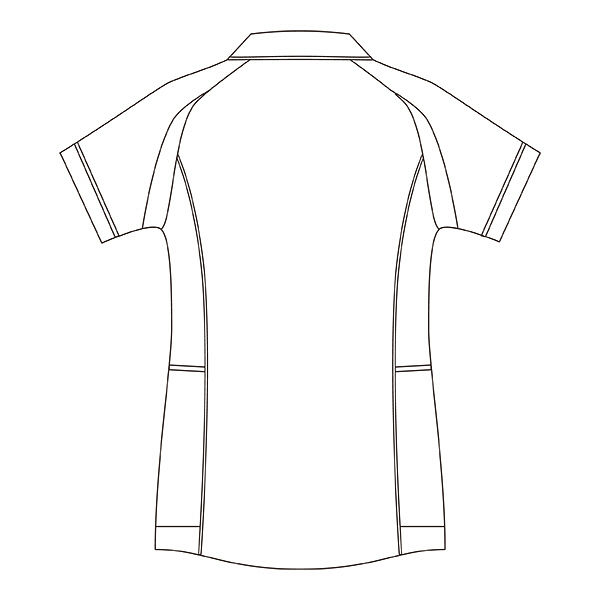 住商モンブラン レディスジャケット(半袖) 医療白衣 ホワイト×コーラルピンク M CHM052-0192 (直送品)