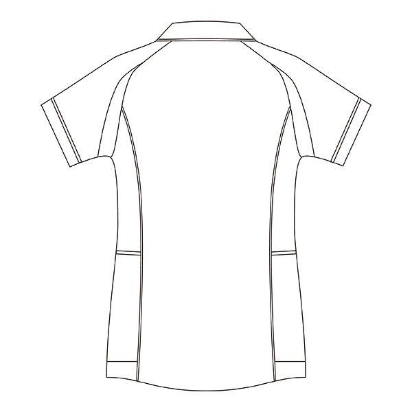住商モンブラン レディスジャケット(半袖) 医療白衣 ホワイト×ウォームブルー 3L CHM052-0194 (直送品)