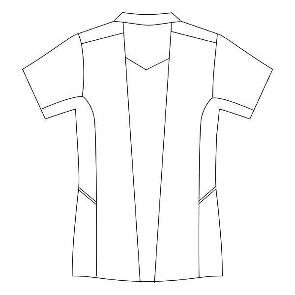 住商モンブラン レディスジャケット 医療白衣 半袖 ホワイト×ウォームブルー 3L CHM058-0104 (直送品)