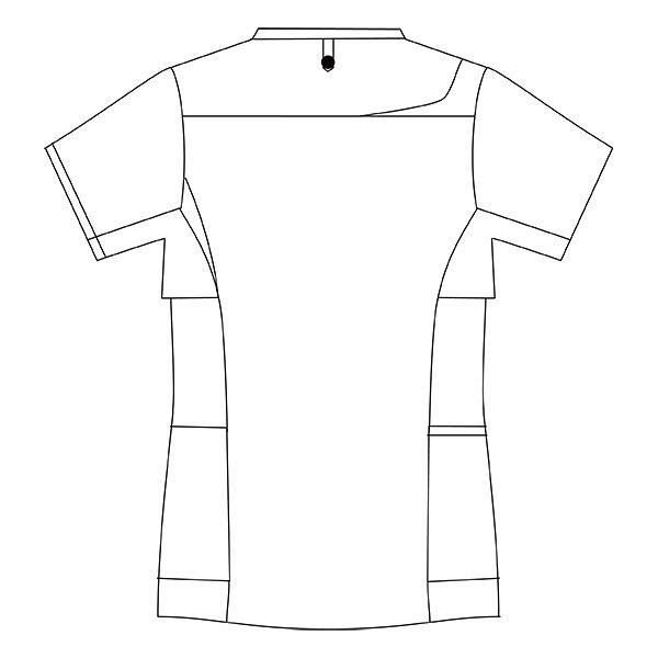 住商モンブラン レディスジャケット 医療白衣 半袖 グレー×ホットピンク L CHM354-4042 (直送品)