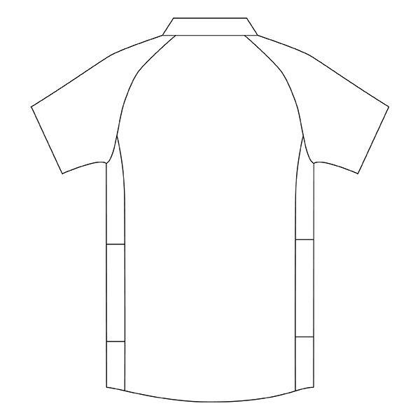 住商モンブラン メンズジャケット 医療白衣 半袖 ホワイト×ウォームブルー 3L CHM558-0104 (直送品)