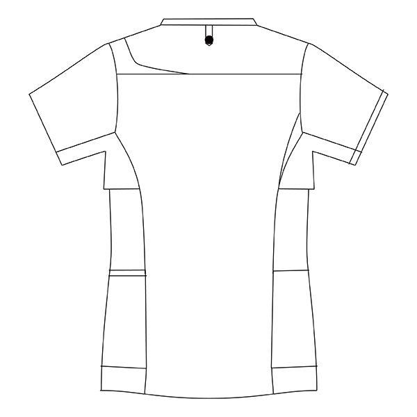 住商モンブラン メンズジャケット 医療白衣 半袖 グレー×ロイヤルブルー L CHM854-4043 (直送品)