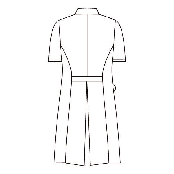 住商モンブラン ローラアシュレイ ナースワンピース 医療白衣 半袖 オフホワイト/アメリブルー L LW401-13 (直送品)