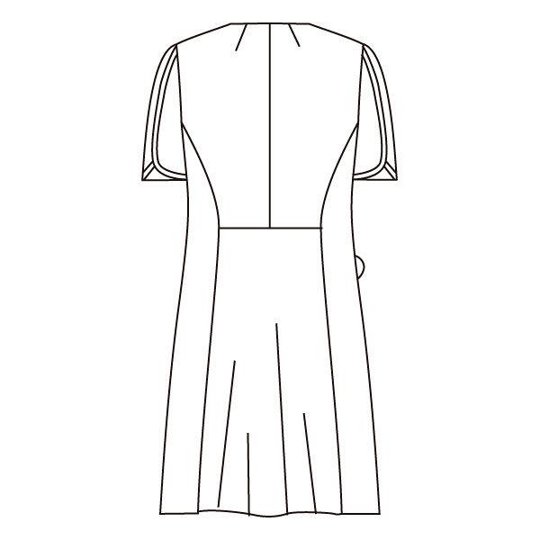 住商モンブラン ローラアシュレイ ナースワンピース 医療白衣 半袖 オフホワイト/アメリブルー L LW402-13 (直送品)