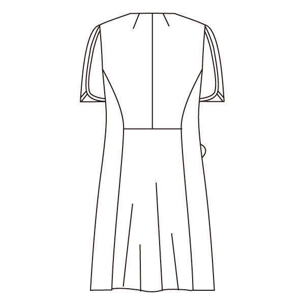 住商モンブラン ローラアシュレイ ナースワンピース 医療白衣 半袖 オフホワイト/アメリブルー LL LW402-13 (直送品)