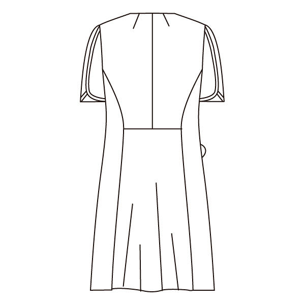 住商モンブラン ローラアシュレイ ナースワンピース 医療白衣 半袖 オフホワイト/アメリブルー 3L LW402-13 (直送品)
