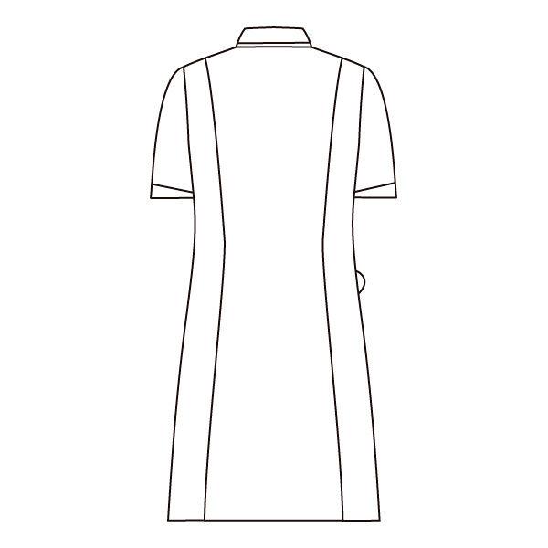 住商モンブラン ローラアシュレイ ナースワンピース 医療白衣 半袖 オフホワイト/アメリブルー L LW403-13 (直送品)