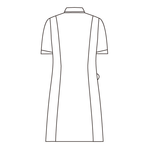 住商モンブラン ローラアシュレイ ナースワンピース 医療白衣 半袖 オフホワイト/アメリブルー LL LW403-13 (直送品)