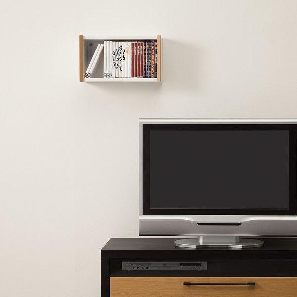 0ca08aaac8 ... 白井産業 シンプル箱型壁掛けラック 幅422mm×高さ239mm ホワイト(木目 ...