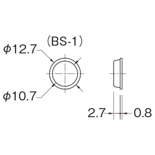 水上 クリアーバンパー φ12.7mm BS-1 シート 1枚(200個)(直送品)
