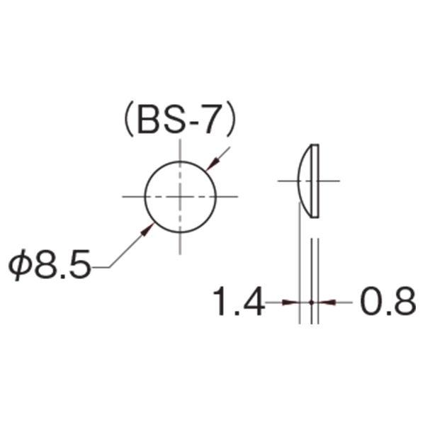 水上 クリアーバンパー φ8.5mm BS-7 シート 1枚(450個)(直送品)