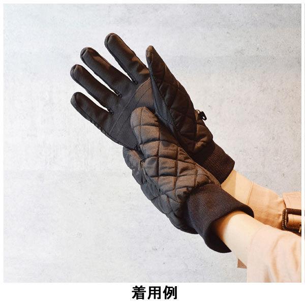 キルティング防寒手袋 黒