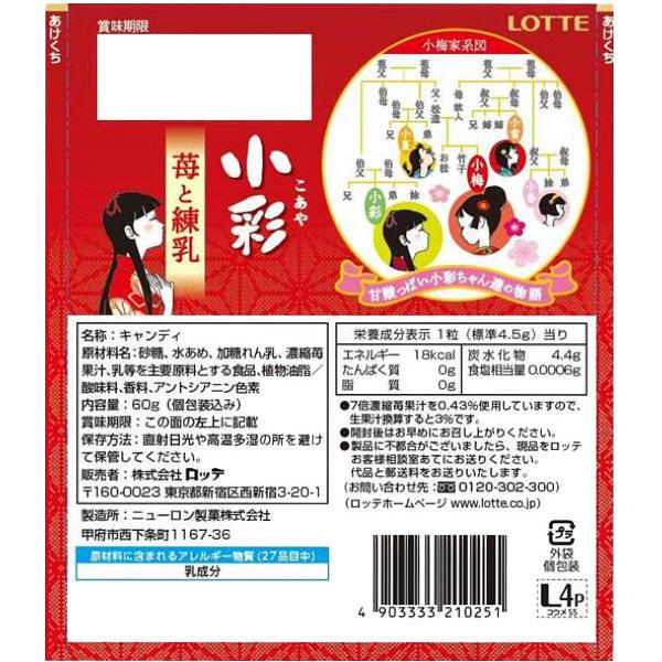 ロッテ 小彩 <苺と練乳>キャンディ2袋