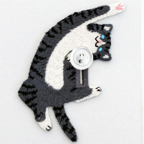 デコレーション刺繍 猫2種