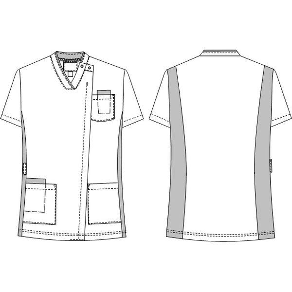 ナガイレーベン 男女兼用スクラブ ディープピンク SS RT-5402(取寄品)