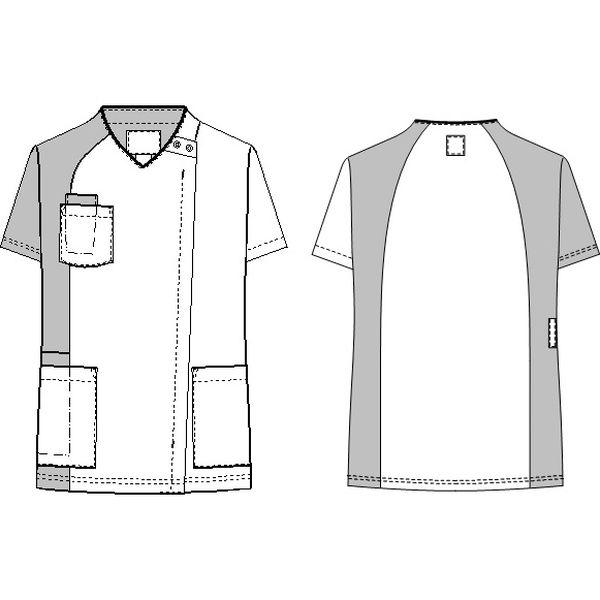 ナガイレーベン 男女兼用スクラブ ネイビー+ロイヤルブルー L RT-5407(取寄品)