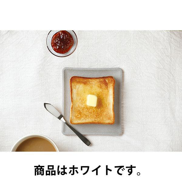 エコカラット トースト皿 ホワイト