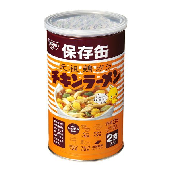 チキンラーメン保存缶 2食入×3缶