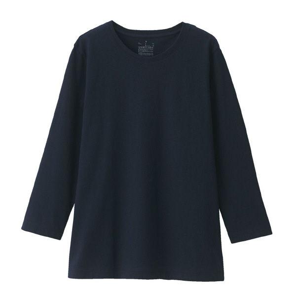 無印 天竺編み七分袖Tシャツ 婦人 L