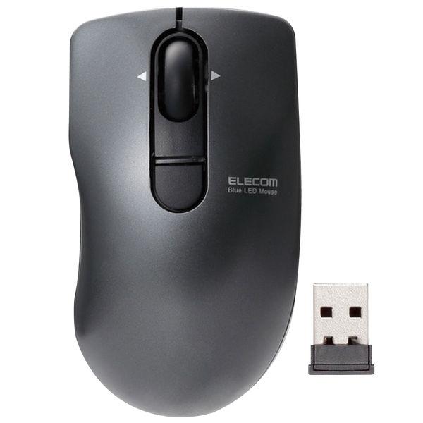エレコム BlueLEDマウス/ポップグラスト/静音ボタン/無線/3ボタン/ブラック M-FPG3DBSBK 1個(直送品)